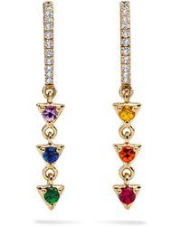 Khai Khai - Rainbow Prism Sphere Earrings - Lyst