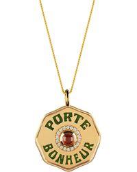 Marlo Laz - Porte Boneheur 14k Gold Necklace - Lyst