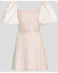 Markarian Cupid Puff Sleeve Sequin Mini Dress - Multicolour