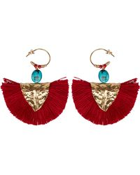 Elise Tsikis - Havane Tassel Earrings - Lyst