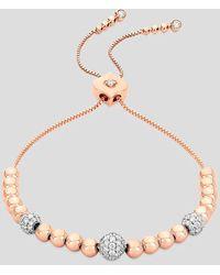 Sara Weinstock 18k Rose Gold Isadora Cali Bolo Diamond Bead Bracelet - Metallic