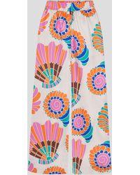Rianna + Nina Melina Multi Print Shantung Trousers - Multicolour