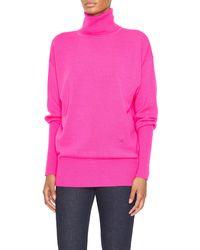 Victoria Beckham - Oversized Turtleneck Sweater - Lyst
