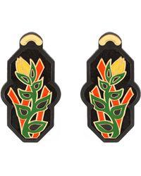 Anna E Alex - Brasile Flower Earrings In Black - Lyst