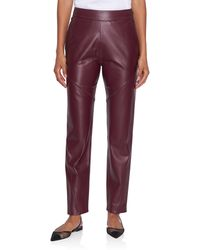 Maison Ullens Nappa Leather Pant - Red