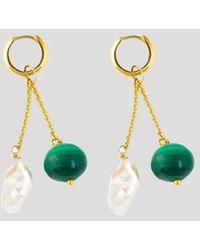 Haute Victoire Charm 18k Yellow Gold Earrings - Multicolor