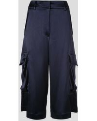 Sies Marjan Sidney Textured-satin Cargo Shorts - Blue
