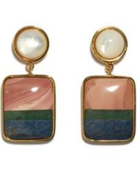 Lizzie Fortunato - Fresco Square Earrings - Lyst