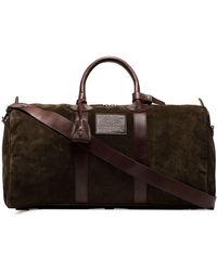 Ralph Lauren - Brown Suede And Leather Holdall Bag By - Lyst