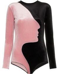 Alexia Hentsch - Face Bodysuit By - Lyst