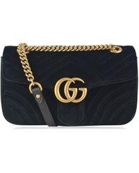 0c505792163 Lyst - Gucci GG Marmont Velvet Small Shoulder Bag