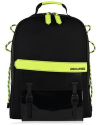 DSquared² Fluorescent Trim Backpack - Black
