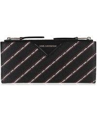 Karl Lagerfeld - Stripe Logo Fold Wallet - Lyst
