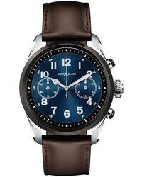 Montblanc - Summit 2 Bicolour Steel Leather Smart Watch - Lyst