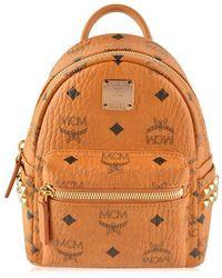 MCM Stark Backpack Xmini In Visetos - Brown