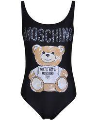 Moschino Bear Swimsuit - Black