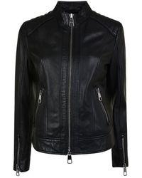 BOSS Biker Lambskin Nappa Leather Jacket - Black