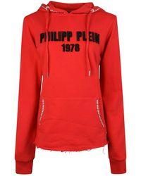 Philipp Plein - Logo Embroidered Hoodie - Lyst