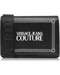 Versace Jeans Nylon Strap Bag - Black
