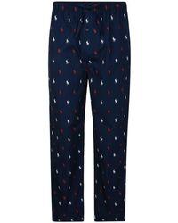 Polo Ralph Lauren - All Over Logo Cotton Pyjama Bottoms - Lyst