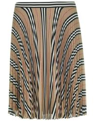 Burberry Rersby Skirt - Natural