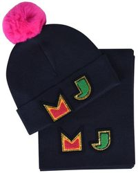 Marc Jacobs Children Girls Beanie And Scarf Set - Blue