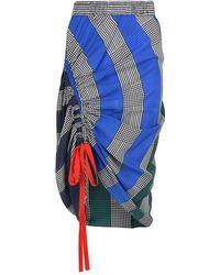 Tommy Hilfiger - Silk Rugby Stripe Ruched Skirt - Lyst