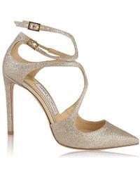 Jimmy Choo Lancer Glittered Sandals - Metallic