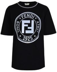 Fendi Ff Leisure T Shirt - Black