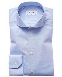 Eton of Sweden Slim Fit Check Shirt - Blue