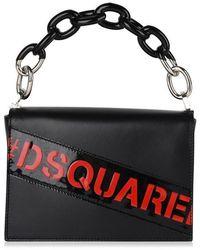 DSquared² Logo Chain Shoulder Bag - Black