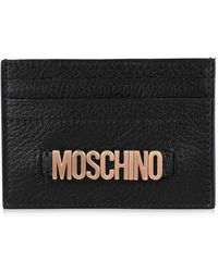 Moschino - Leather Card Holder - Lyst