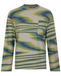 Missoni Tie Dye Long Sleeved T Shirt - Green