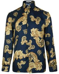 Versace - Baroque Long Sleeved Shirt - Lyst