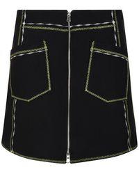 McQ Contrast Mini Skirt - Black