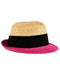 Prada Straw Bow Hat - Pink
