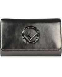 98b81a0e98ed Lyst - Fendi Metallic Logo Shoulder Bag in Metallic