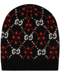 Lyst - Gucci GG Diamond Hat in Black for Men fdcf1730bcd1
