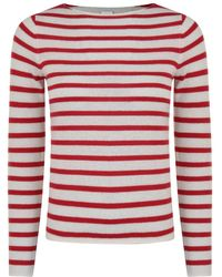 BOSS by Hugo Boss - Striped Cashmere Jumper - Lyst