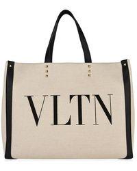 Valentino Vltn Canvas Tote Bag - Multicolour