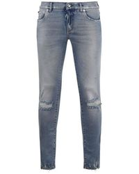 Dolce & Gabbana Ripped 14 Jeans - Blue