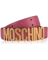 Moschino Logo Belt - Pink