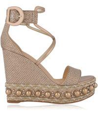 Christian Louboutin - Chocazeppa Glitter Heeled Sandals - Lyst