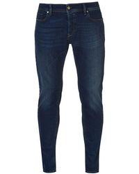 f6d2e7b0 DIESEL Jeans Sleenker 849d Skinny Fit Everspring Stretch Rinse in Black for  Men - Lyst