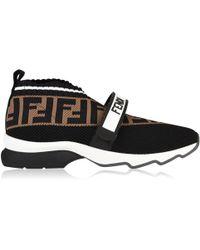 Fendi - Ff Velcro Sock Trainers - Lyst