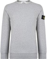 Stone Island - Badge Sleeve Sweatshirt - Lyst