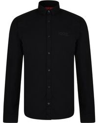 HUGO - Extra Slim Short Length Cotton Shirt - Lyst