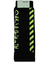 Off-White c/o Virgil Abloh Diagonal High Knit Socks - Black