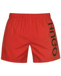 HUGO Saba Swim Shorts Mens - Red