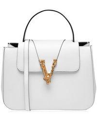 Versace Virtus Top Handle Bag - White